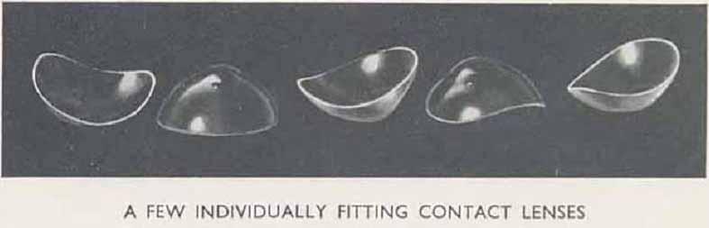 kính áp tròng xưa