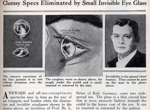 hình ảnh kính áp tròng thời xưa