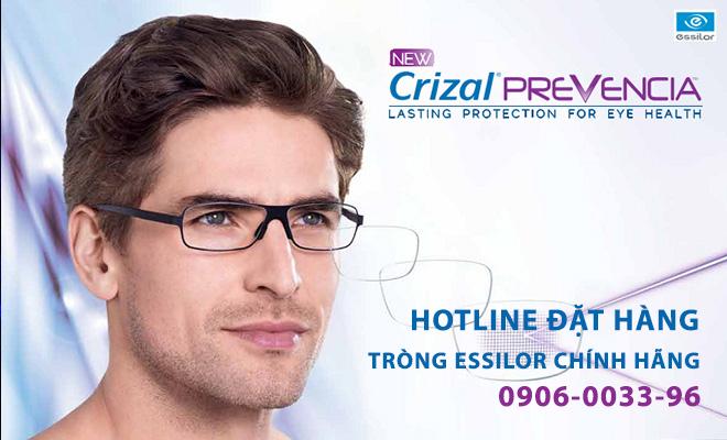 tròng kính chống ánh sáng xanh Essilor Prevencia